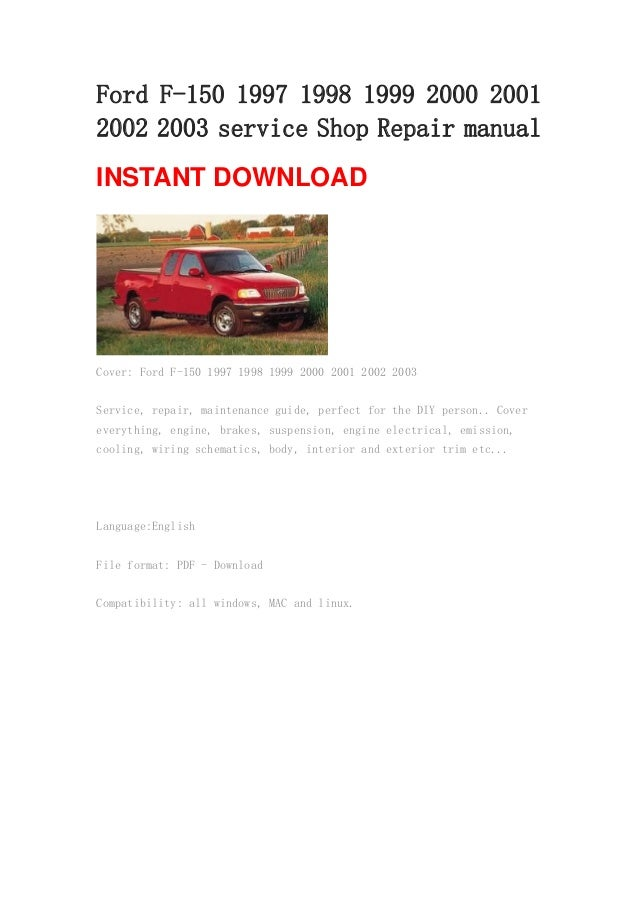 1998 ford f150 parts manual