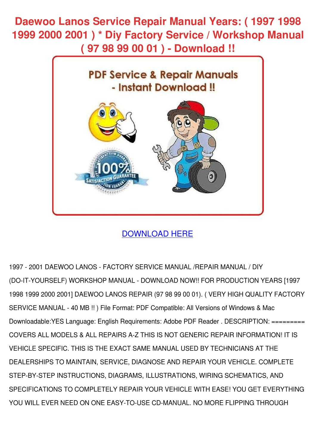 2000 daewoo lanos repair manual pdf