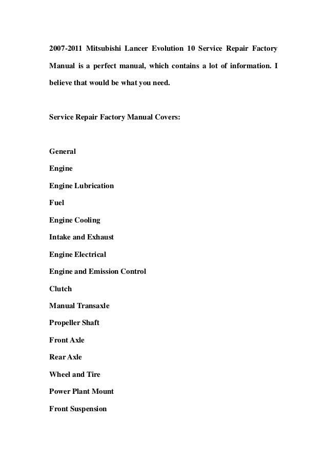 2007 mitsubishi lancer owners manual pdf