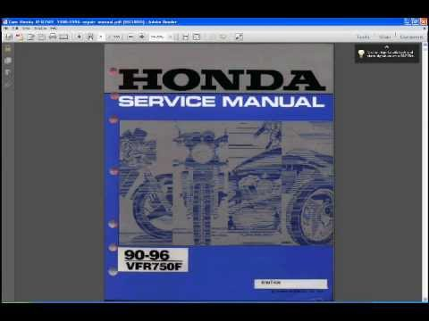 honda vfr 750 f workshop manual