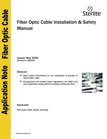 manually install fibre optic australia