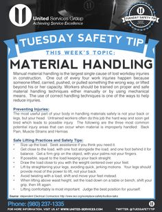 manual handling can be made safer