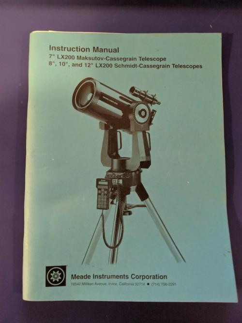 meade lx200 classic telescope instruction manual