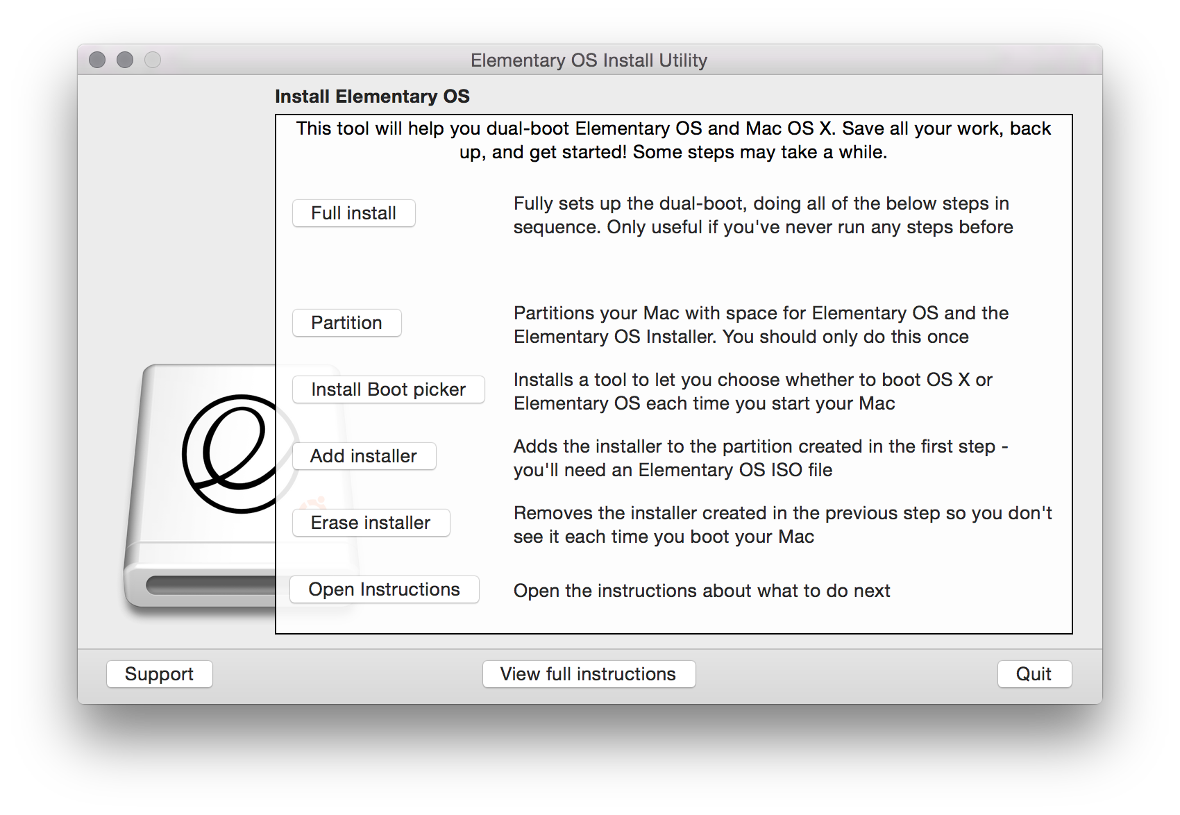 elementary os 4 manual partitions