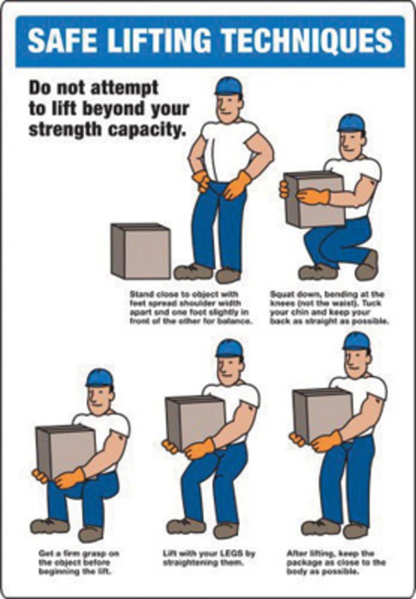 manual handling risk safe work procedure