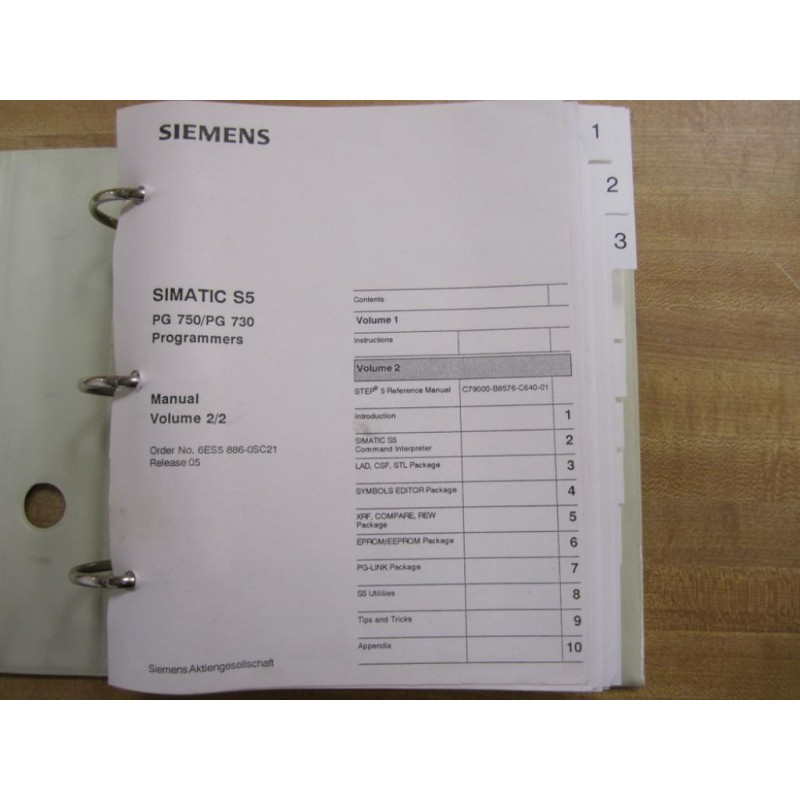 siemens plc s5 programming manual