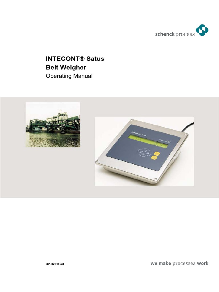 schenck intecont plus belt weigher user manual