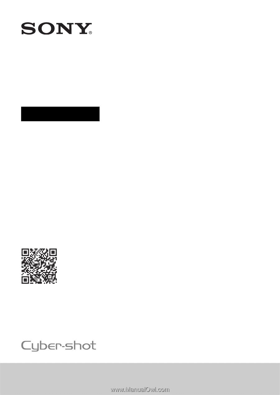 sony.com.au wx500 manual
