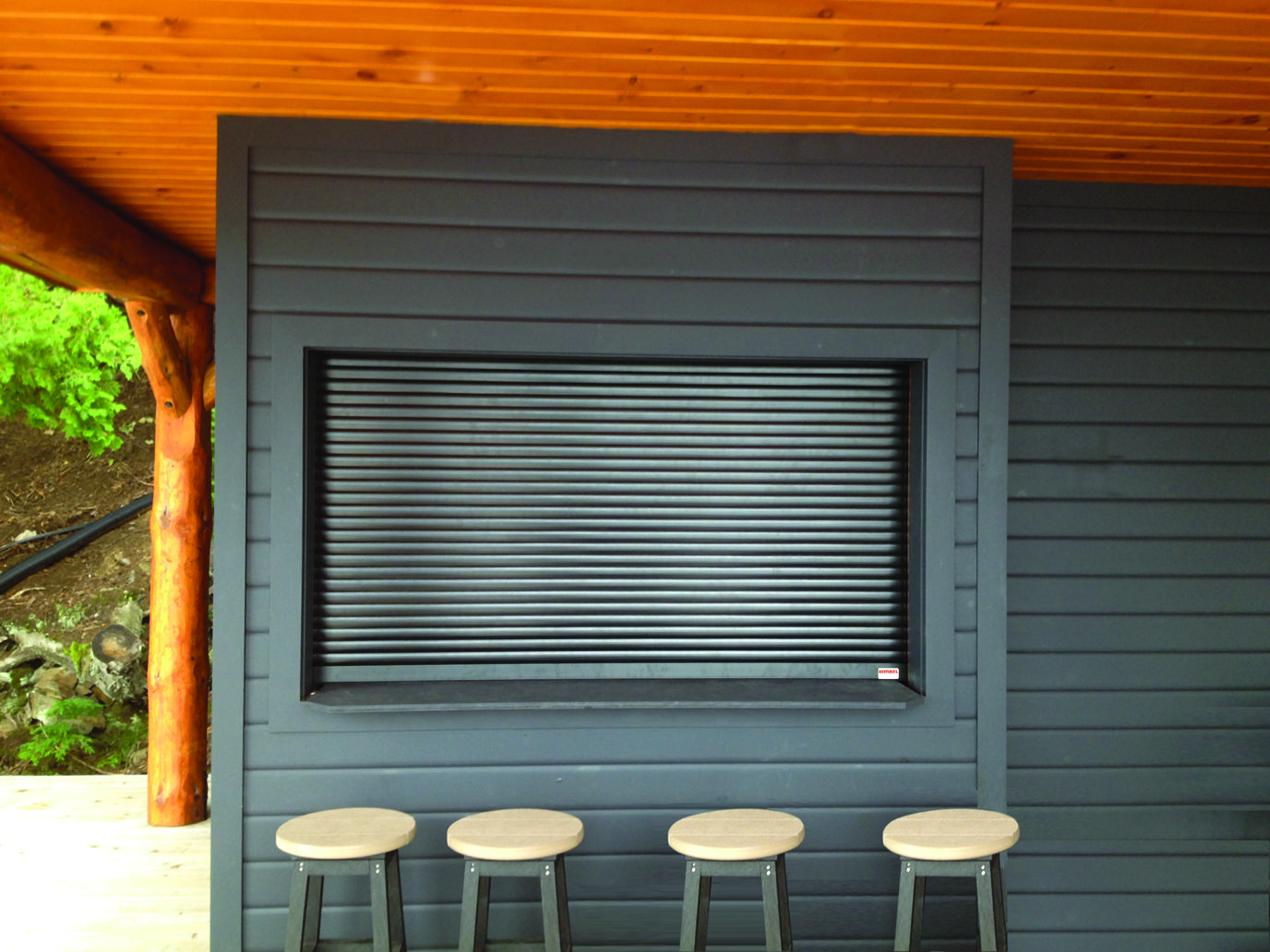 manually roll up security window shutters