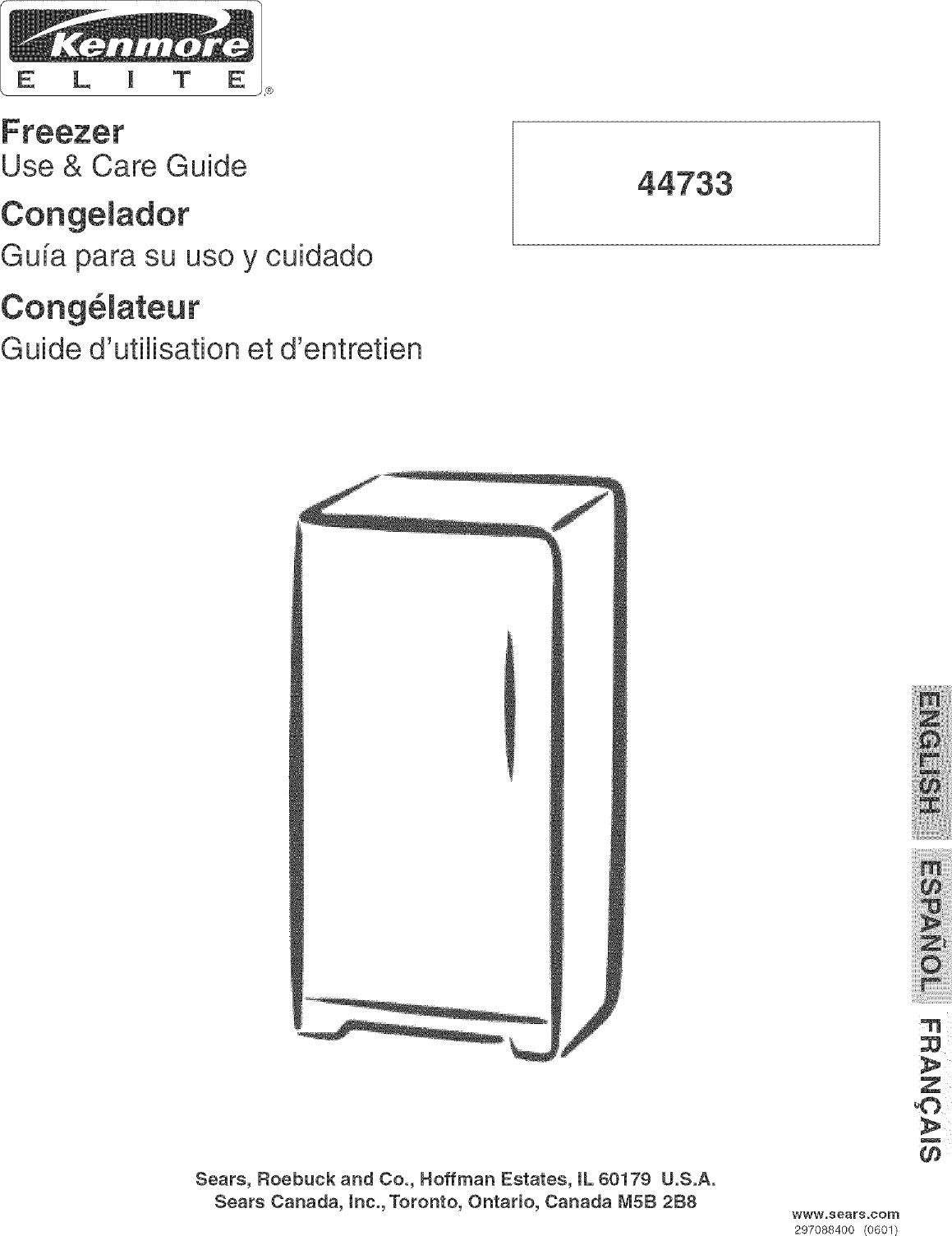 kenmore freezer model c675 manual