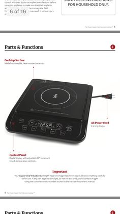 duxtop induction cooktop user manual