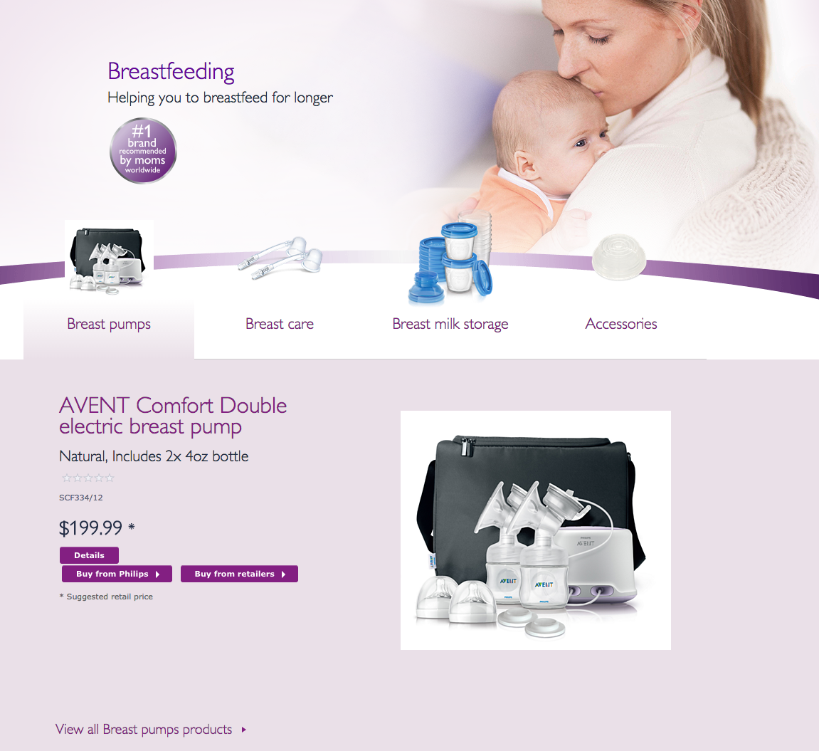 avent manual or electric breast pump