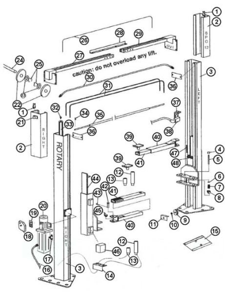 diagram to illustrate manual lift
