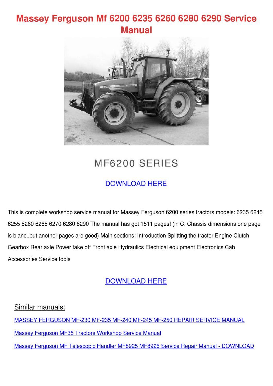 massey ferguson 6245 repair manual