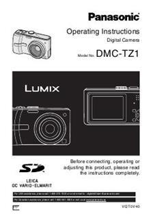 panasonic lumix tz60 instruction manual