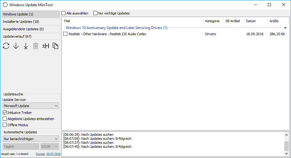how do you download windows 10 updates manually