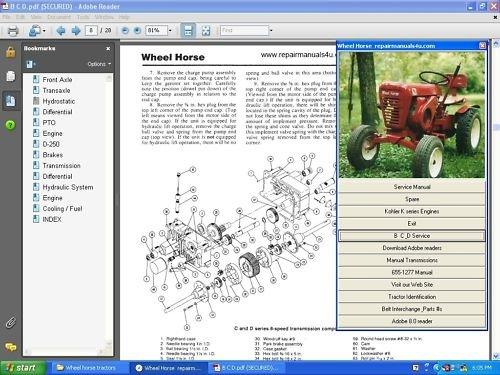 service manual toro wheel horse
