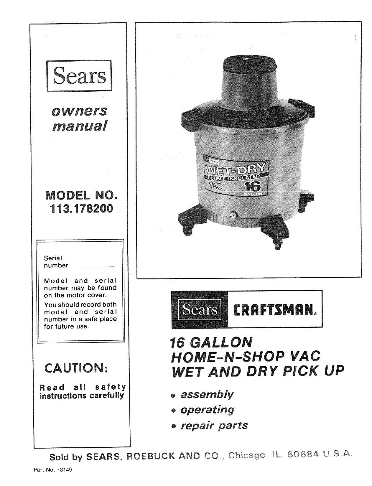 shop vac 6 gallon manual