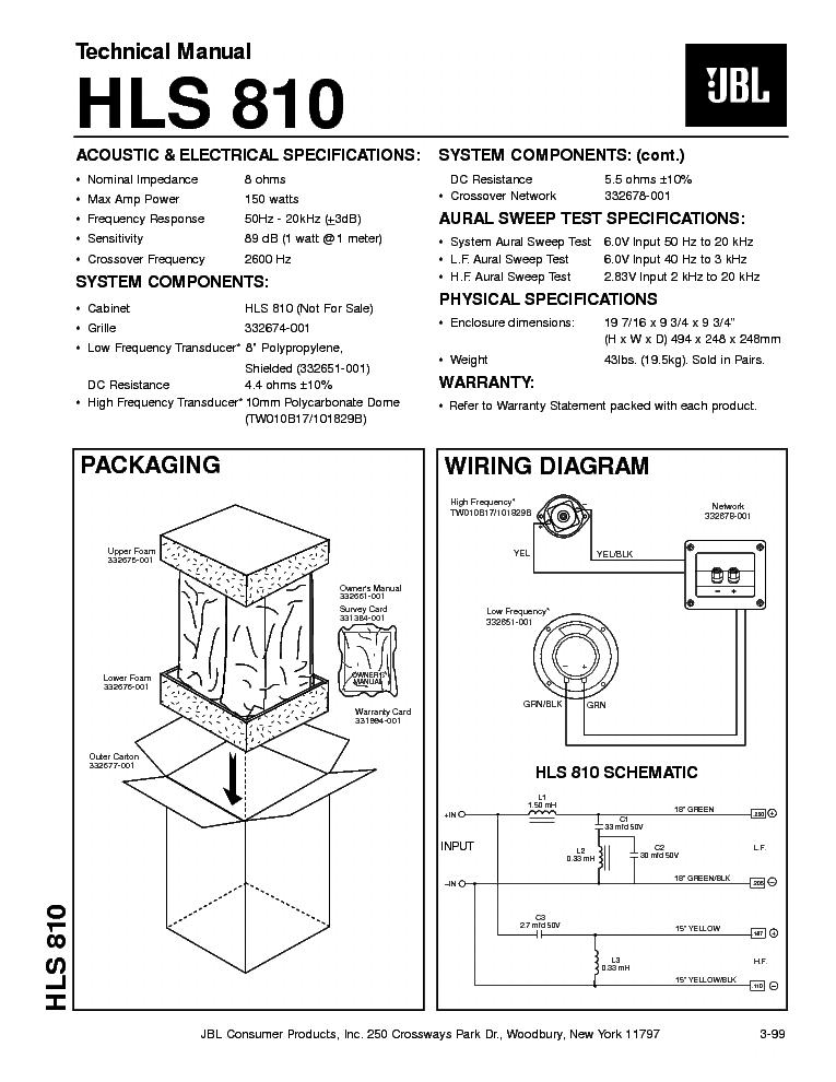 jbl control 1 pro service manual