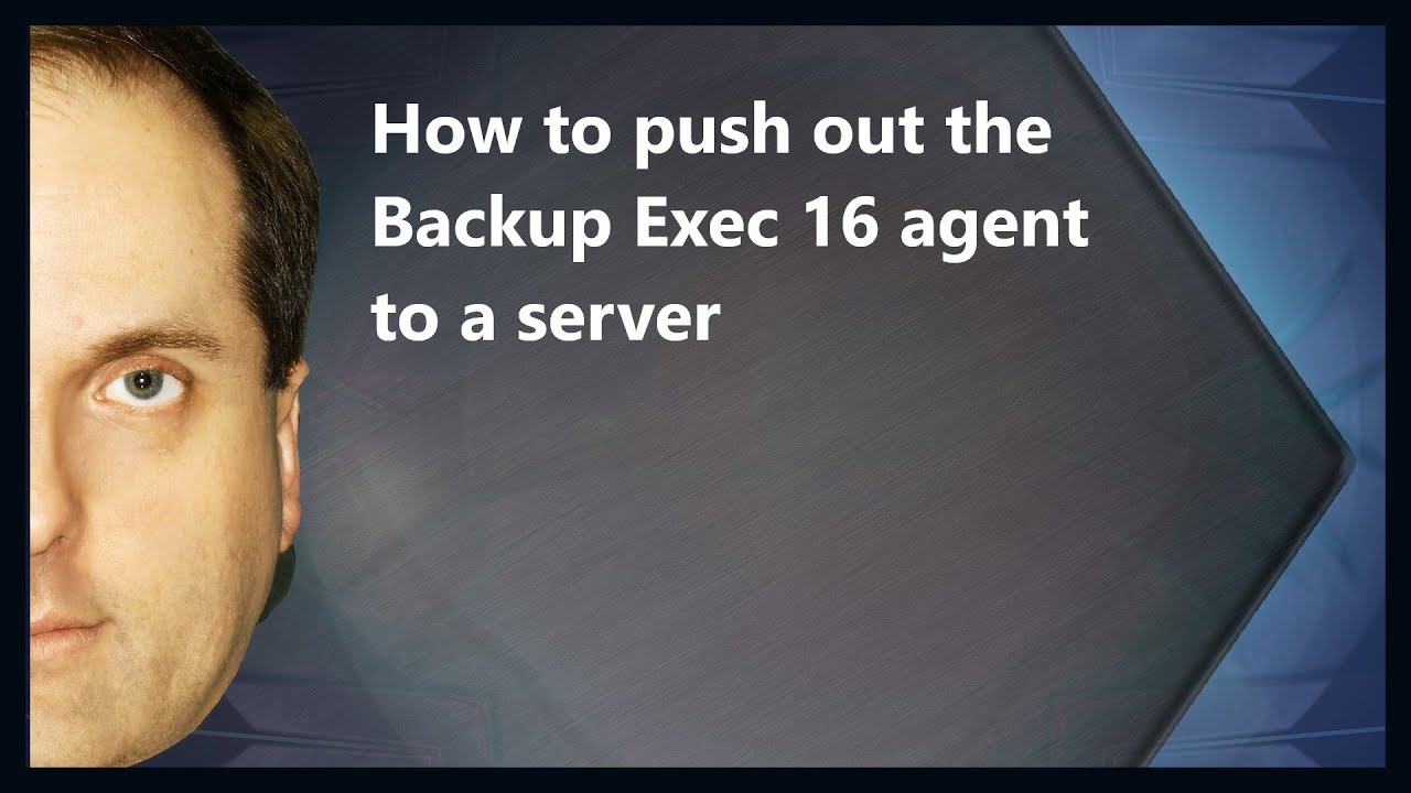 backup exec how to manually install agent