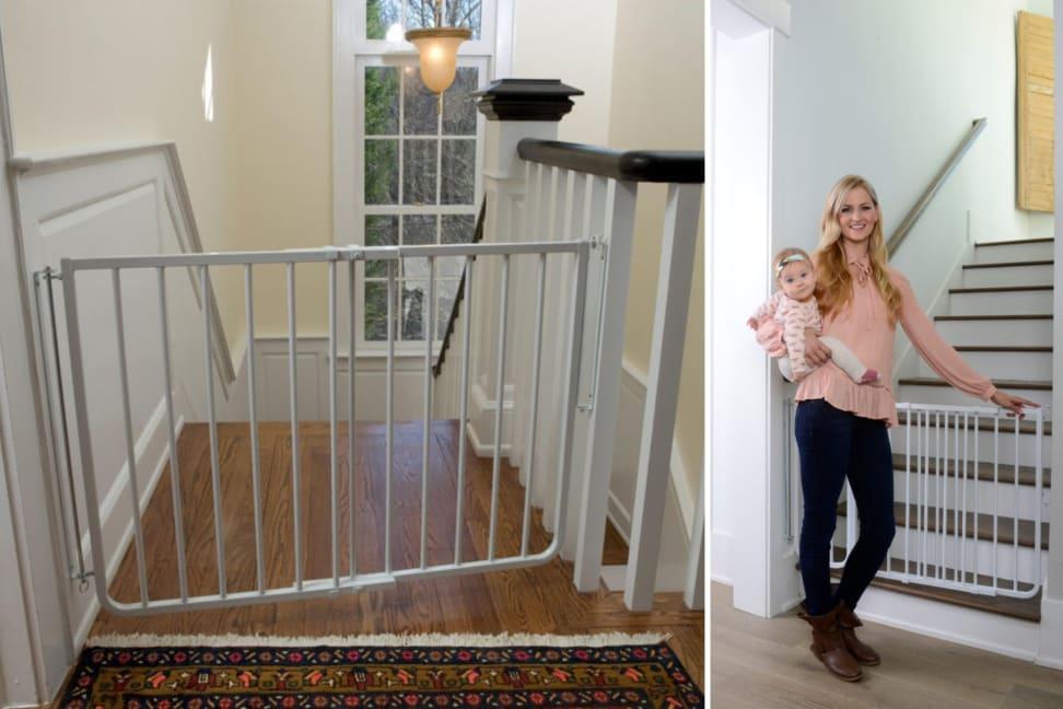 evenflo easy walk thru top of stairs gate manual
