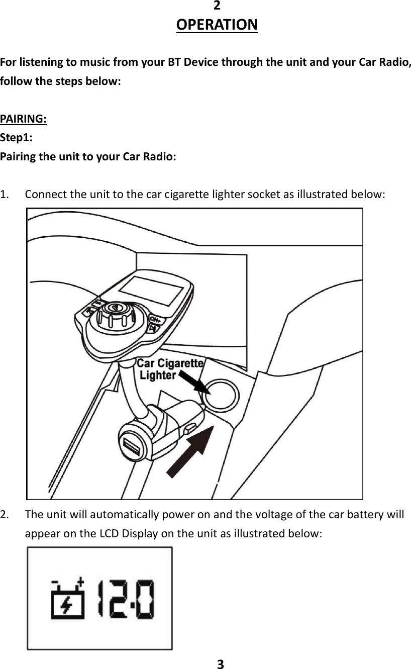 avantek bluetooth fm transmitter manual