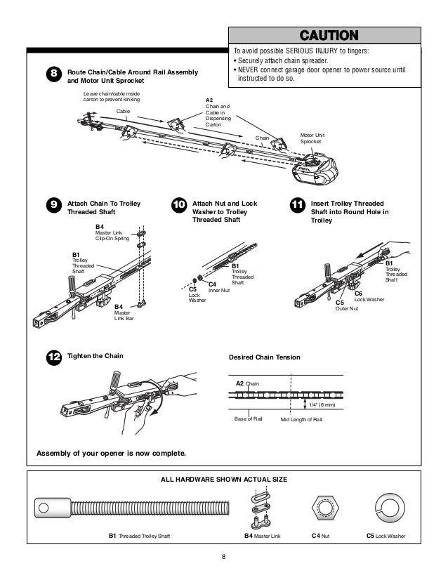 chamberlain professional garage door opener manual