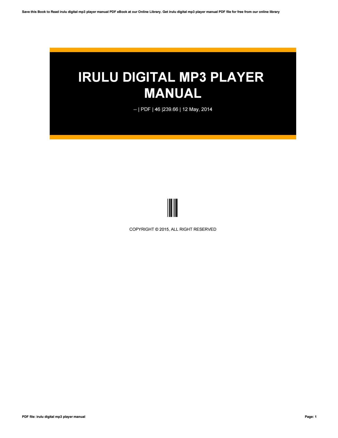 digital multimedia player mp3 manual