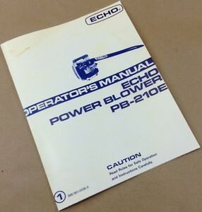 echo leaf blower service manual
