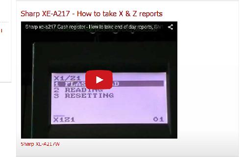 sharp cash register xe a203 programming manuals