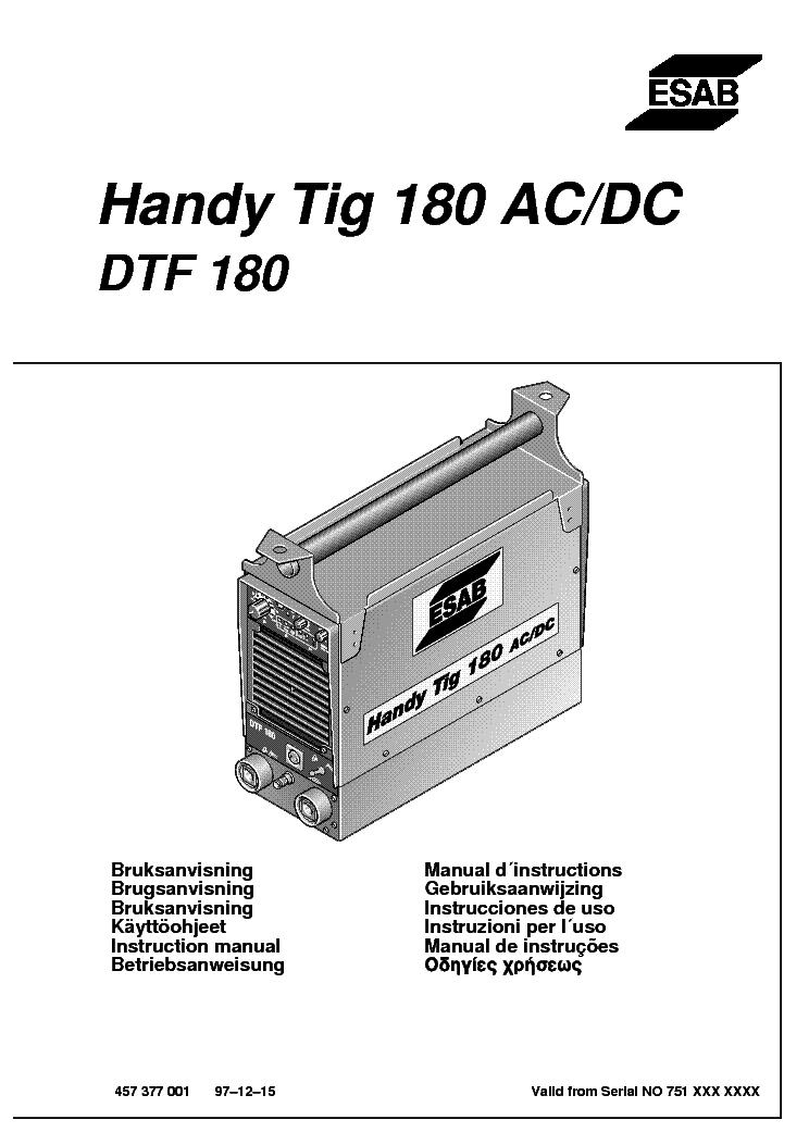 esab lka 180 welder manual