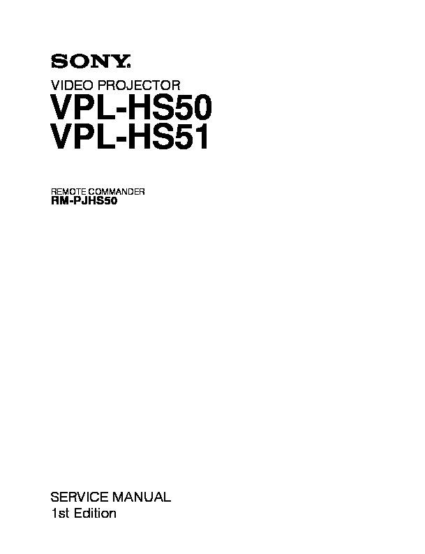 sony projector vpl-ex3 manual