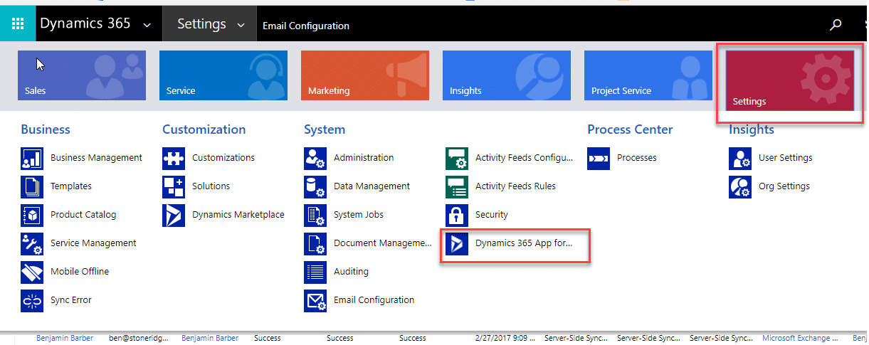 how to set up manual sync on outlook.app
