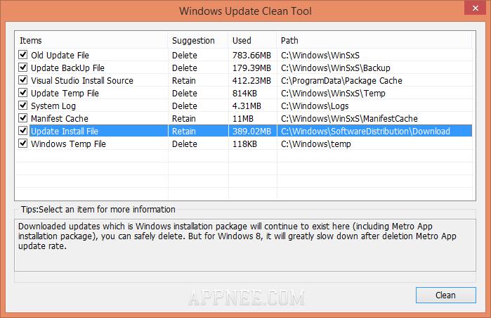 manually clean winsxs folder windows 7