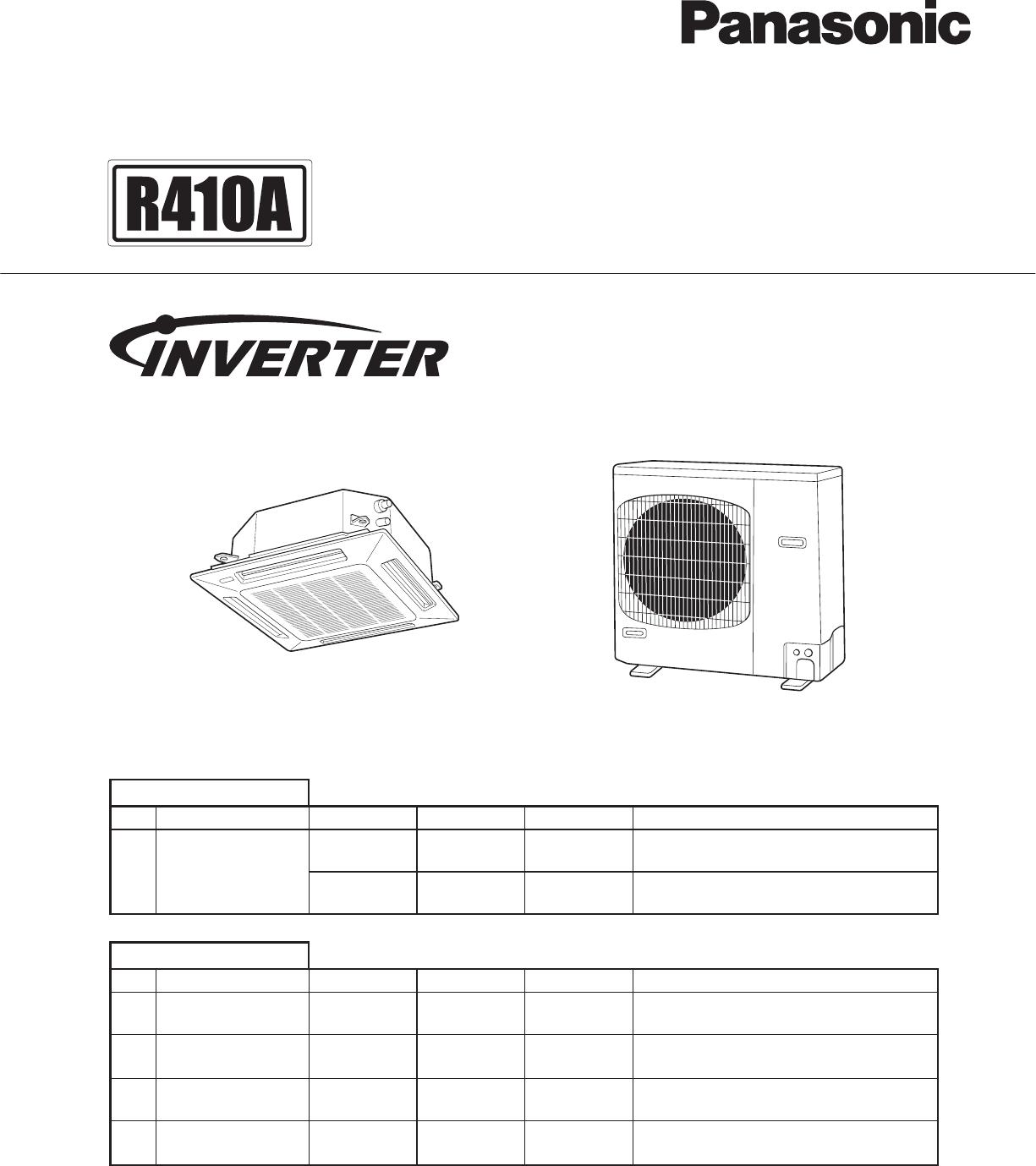 panasonic air conditioner cz-rtc2 manual