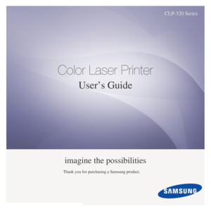 samsung clp-320 user manual download
