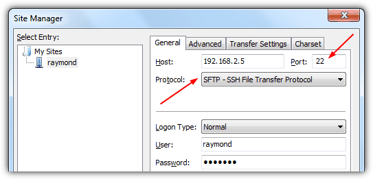 set up manual ip for file transfers