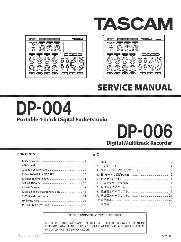 tascam vl-a8 service manual