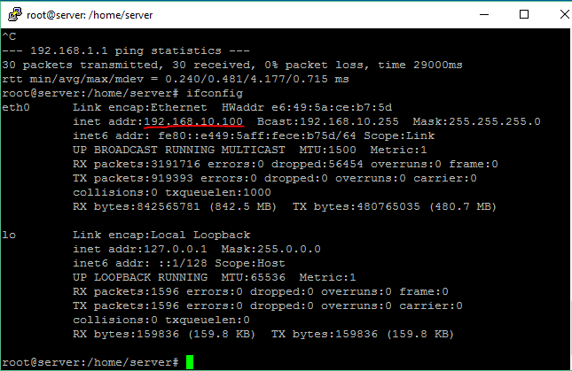 ubuntu manual ip address command line
